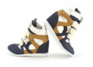 pantofi sport albastri cu negru