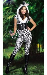 Costum halloween zebra
