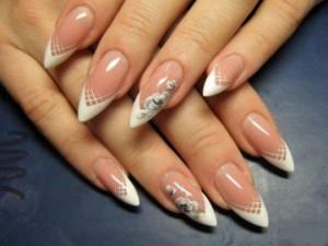 Фото френч на миндальные ногти