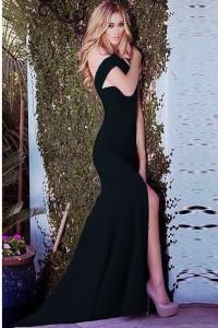 Black-Bare-Shoulder-Cross-Backless-Mermaid-Floor-length-Evening-Dress-LC6789-2