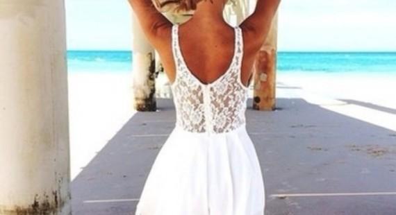 rochii albe pentru plaja