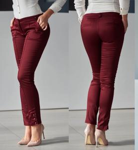 Pantaloni Fofy Labour Style Burgundy