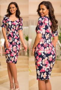 rochie mulata cu imprimeu floral