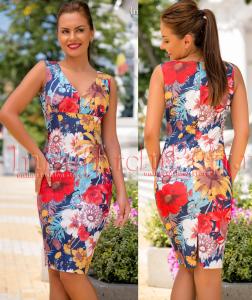 rochie conica cu imprimeu floral