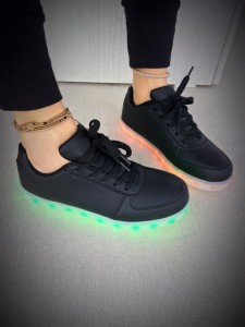 black led shoes