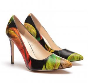 pantofi eleganti cu frunze
