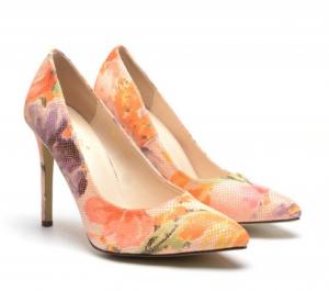 pantofi colorati toc mic