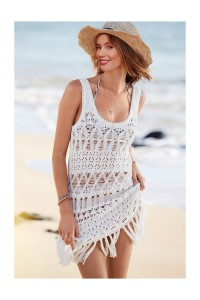 rochie de plaja alba