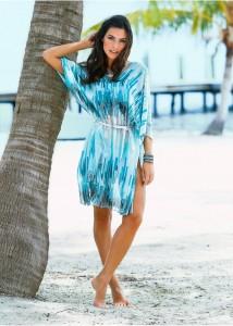 rochie de plaja albastra