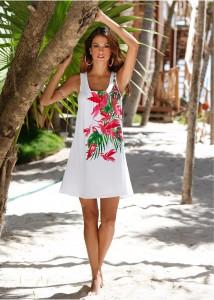 rochie de plajacu floricele