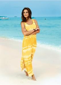 rochie de plaja galben