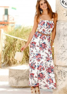 rochie de plaja model florl