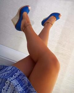 sandale cu platforme albastre