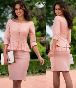 Compleu elegant roz pudra
