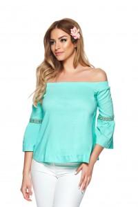 bluza vaporoasa turquoise