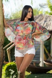 Bluza cu imprimeu multicolor