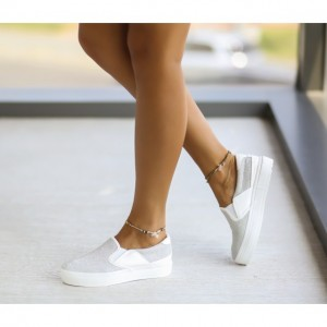 espadrile albe simple