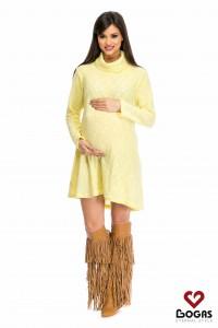 Rochie de gravida galbena