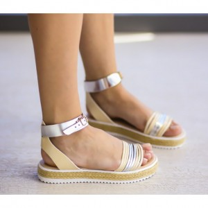 sandale joase crem