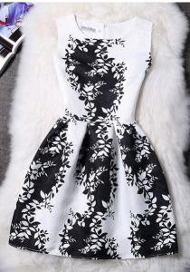Rochie alb negru