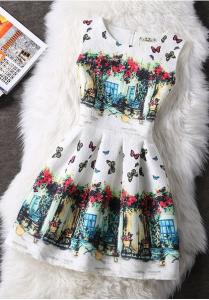 Rochie cu fluturi