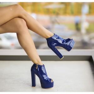 Botine dama albastre