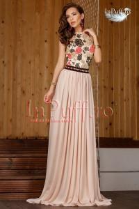 Rochie lunga cu imprimeu nasa
