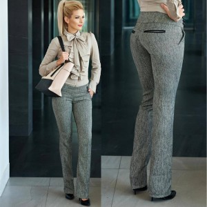 pantaloni office dama gri
