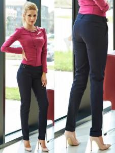 Pantaloni office albastrii