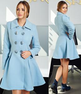 Palton dama albastru deschis