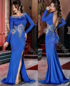 Rochie lunga albastra de revelion