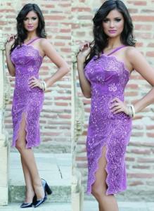 Rochie violet pentru balul bobocilor
