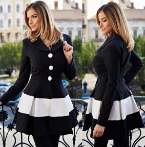 Palton de toamna negru