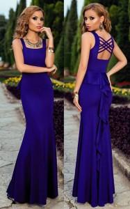 Rochie albastra cu trena