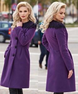Palton de iarna violet
