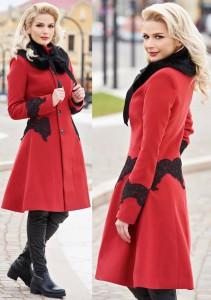 Palton de iarna rosu