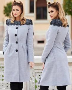 Palton de iarna gri