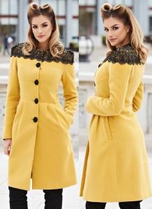 Palton de iarna galben