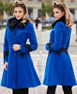 Palton de iarna albastru