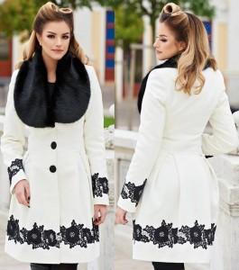 Palton de iarna alb