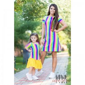 Rochii mama fiica colorate