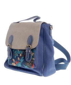 rucsac bleumarin cu design floral