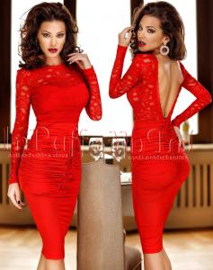 rochie rosie pentru craciun