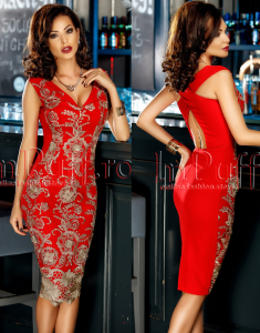 rochie rosie pentru craciun si revelion
