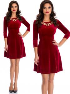 rochie catifea rosie