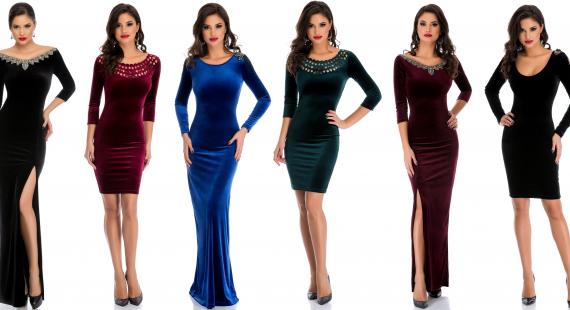rochii dama din catifea