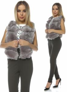 vesta blana artificiala ieftina