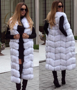 vesta de blana lunga