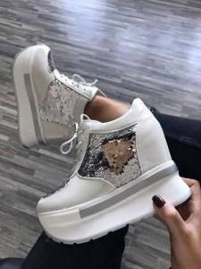 sneakers cu paiete