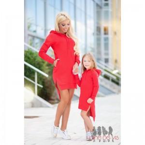 set rochii sport mama fiica rosii